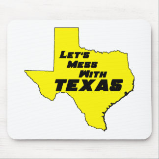 Let's Mess With Texas Yellow Mouse Pad