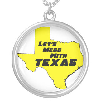 Let's Mess With Texas Yellow Necklace