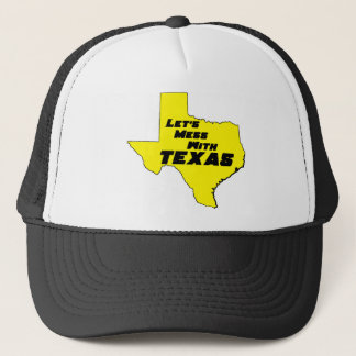 Let's Mess With Texas Yellow Trucker Hat