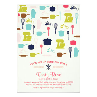 Let's Mix Up Some Fun - Kitchen Bridal Shower Card