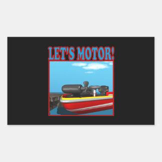 Lets Motor Rectangular Sticker