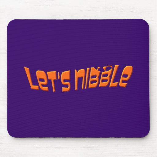 let's nibble mouse pad