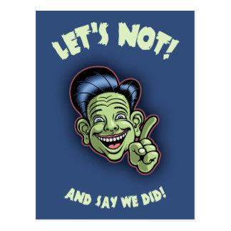 Let's Not! Postcard