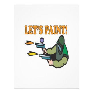 """Lets Paint 8.5"""" X 11"""" Flyer"""