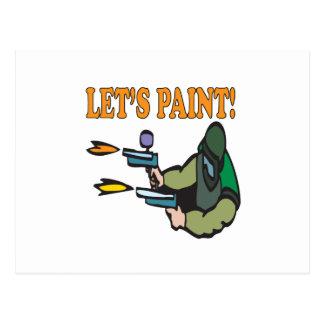 Lets Paint Postcard