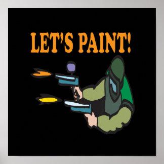 Lets Paint Poster