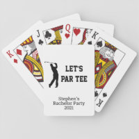 Let's Par Tee Custom Golf Bachelor Party Playing Cards