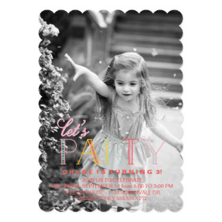 Let's Party Birthday Party Invitation