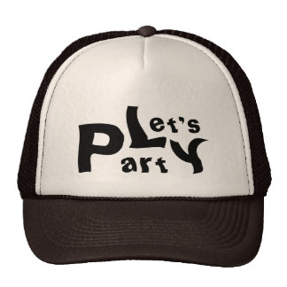 Let's Party Black White Brown Summer Holiday Cap Trucker Hat