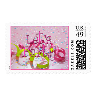 LET'S PARTY by SHARON SHARPE Postage