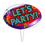 Let's party cake pick