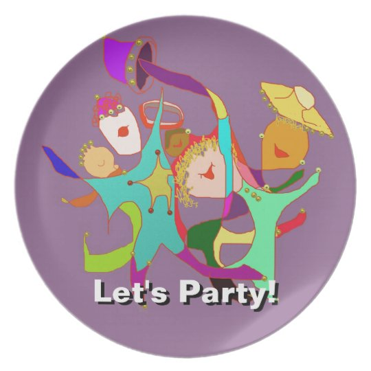 Let's Party! Carnival! Dancing in the Streets! Melamine Plate