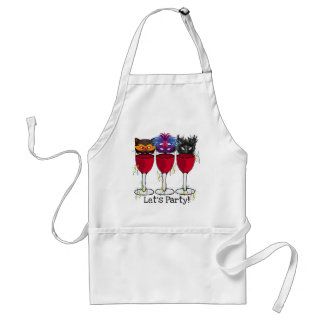 LET'S PARTY CARNIVAL OR HALLOWEEN MASQUERADE PARTY ADULT APRON