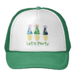 LET'S PARTY CHAMPAGNE PARTY HATS PRINT