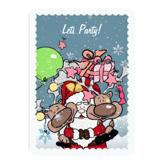 Lets Party!  Christmas Card