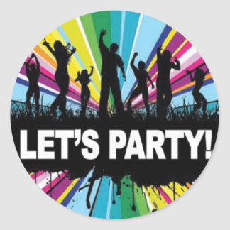 Lets Party Classic Round Sticker