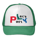 Let's Party Colourful Green Summer Holiday Cap Trucker Hat