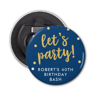Let's Party Confetti, Blue Party Favor Bottle Opener