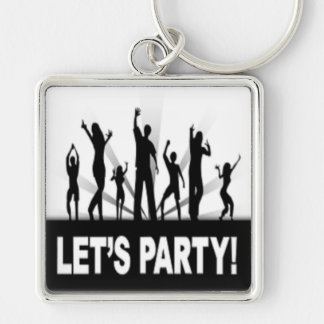 """LET'S PARTY"" DANCERS KEYCHAIN"
