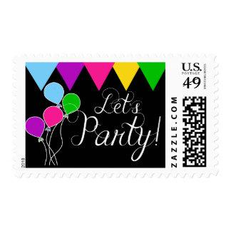 Let's Party Festive Postage