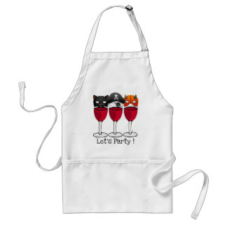 LET'S PARTY HALLOWEEN COSTUME MASKS WINE GLASSES ADULT APRON