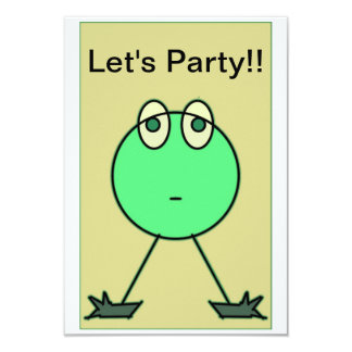 """""""Lets """"Party"""" 3.5x5 Paper Invitation Card"""