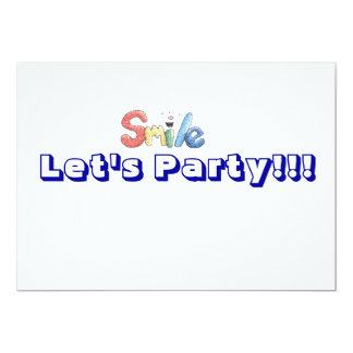 let's party invitation