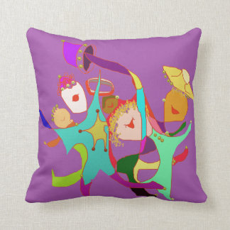 Let's Party Let's Dance Carnival Elves Throw Pillow
