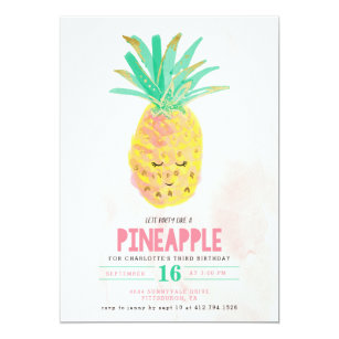 party like a pineapple invitations zazzle