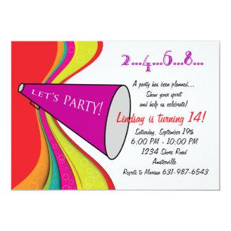 "Let's Party Megaphone Invitation 5"" X 7"" Invitation Card"