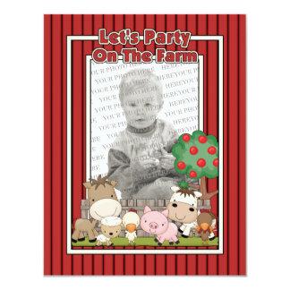 Let's Party On The Farm (Photo Card) Card
