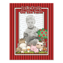 Let's Party On The Farm (Photo Card) Invitation