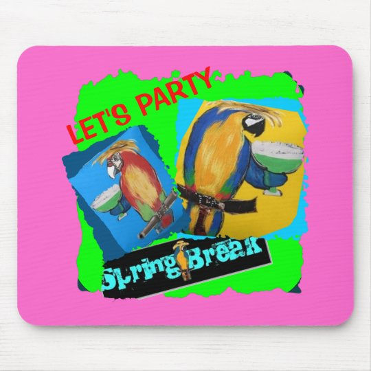 Let's Party - Parrots Mouse Pad