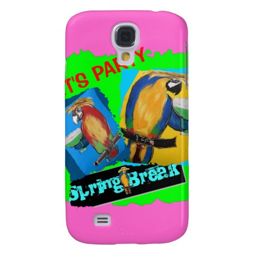 Let's Party - Parrots Samsung Galaxy S4 Covers