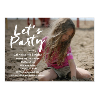 Let's Party | Photo Party Invitation