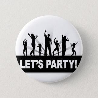 Let's Party Pinback Button