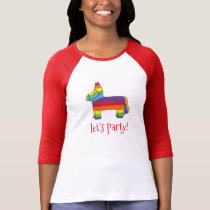 Let's Party! Rainbow Birthday Fiesta Piñata Design T-Shirt