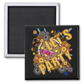LET'S PARTY REFRIGERATOR MAGNET