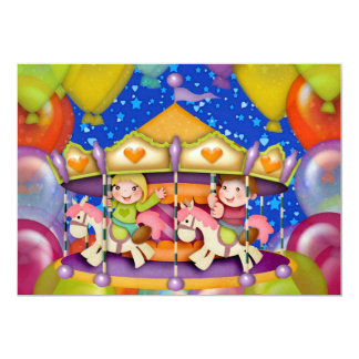 Let's Party ! - SRF 5x7 Paper Invitation Card
