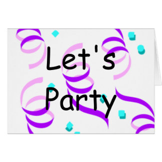 Let's Party Stationery Note Card