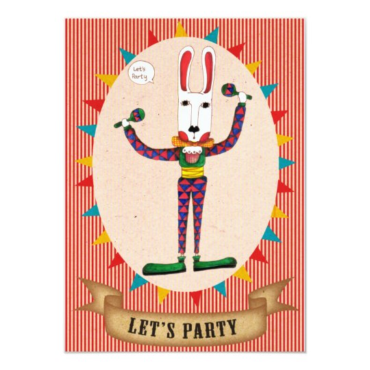 Let's Party The Joker- Invitation card