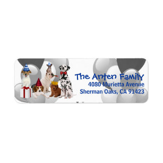 Let's PAWty Birthday Address Labels for Kids