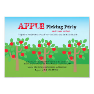 Let's Pick Apples Invitation