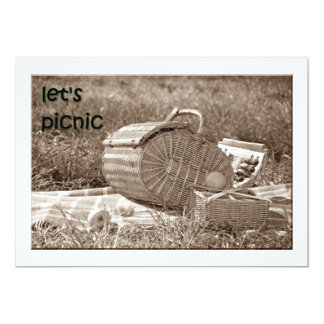 """LET'S PICNIC"" INVITATION FOR ANY EVENT"