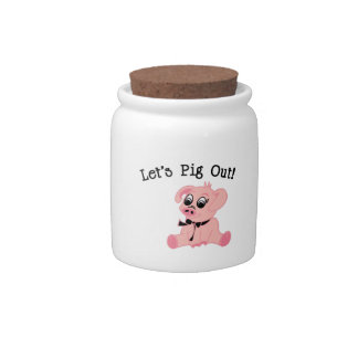 Lets Pig Out Candy Dishes