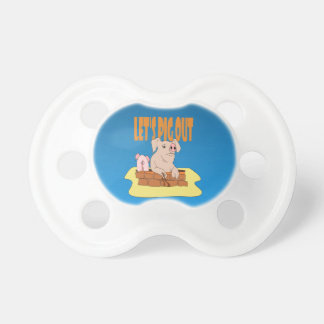 Let's Pig Out Pacifier