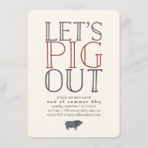 Let's Pig Out | Summer BBQ Invitation