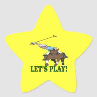 Lets Play 2 Star Sticker