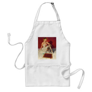Lets Play a Game - Retro Pinup Girl Adult Apron