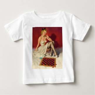 Lets Play a Game - Retro Pinup Girl Baby T-Shirt